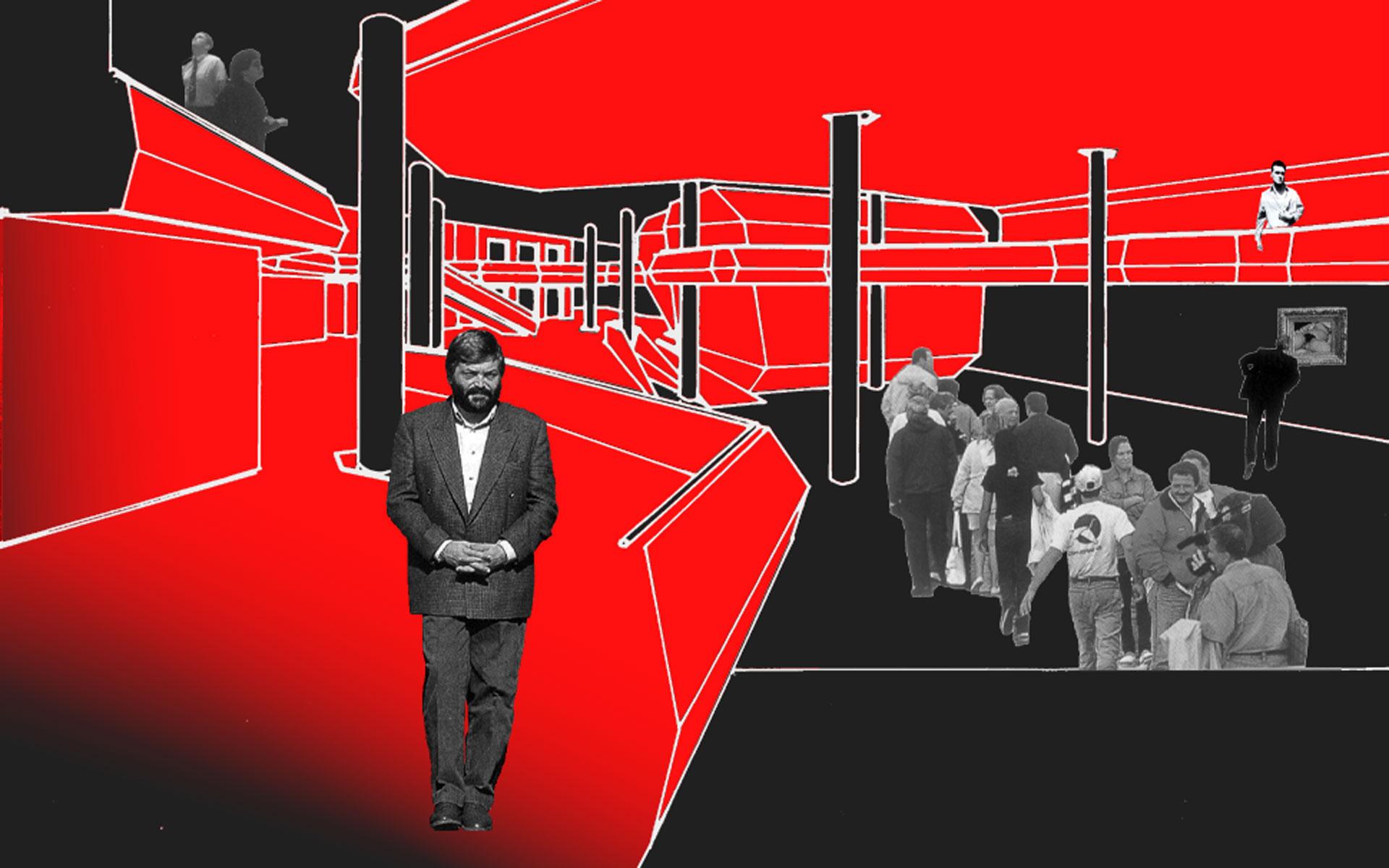 Arquitectura, collage concurso Fundación Mies van der Rohe