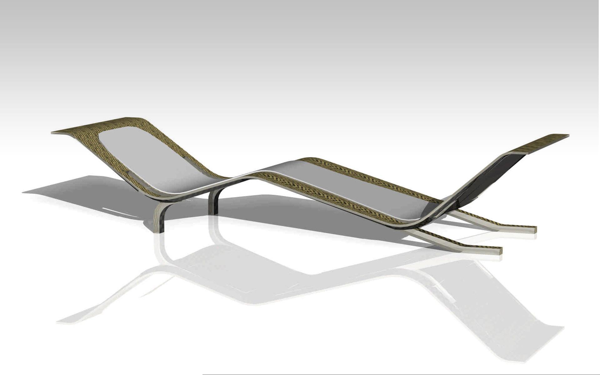 Diseño industrial, diseño chaise longue en composite