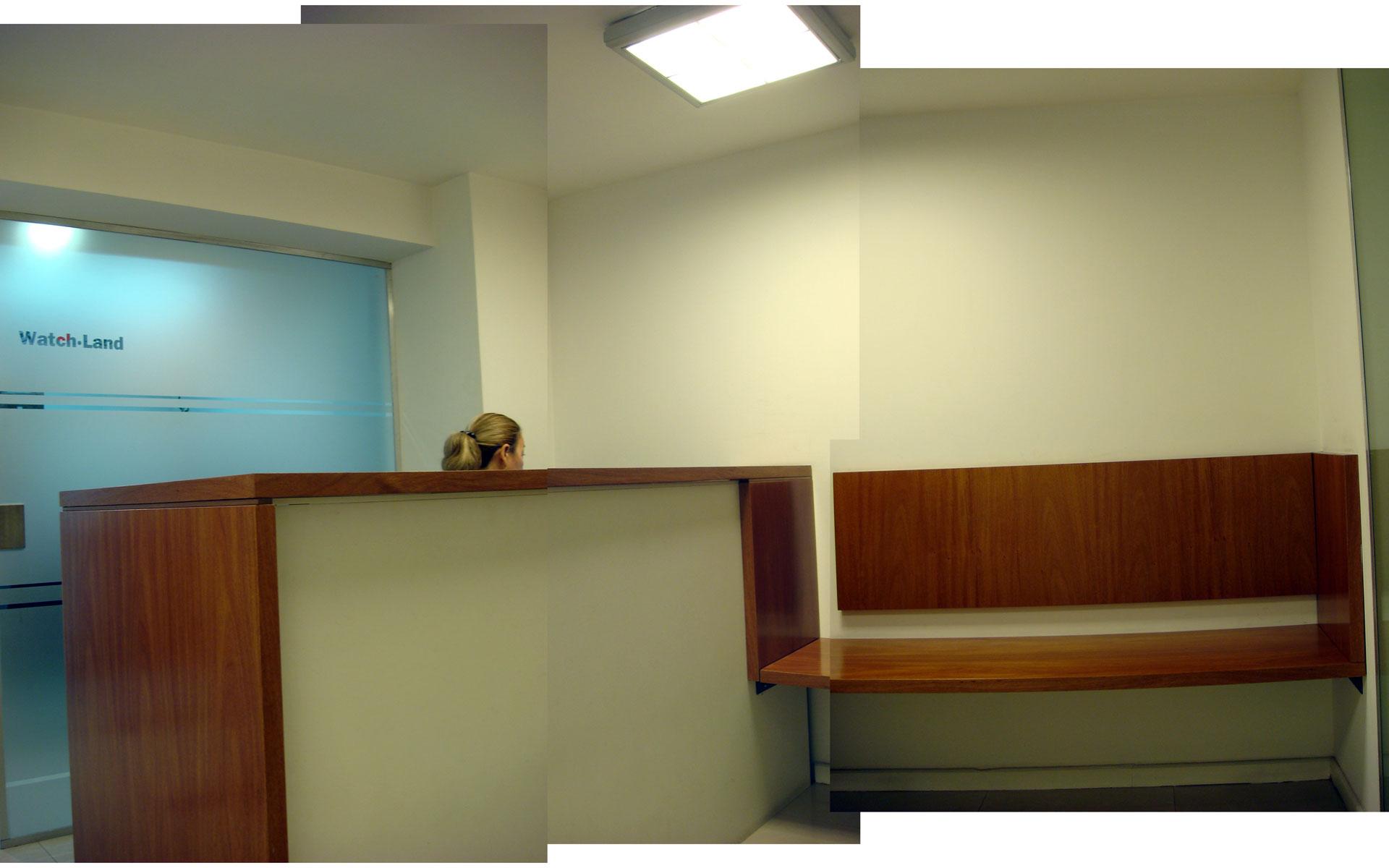 diseño interior, reforma oficina, mueble recepción