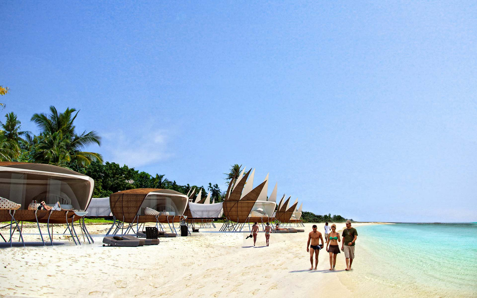 glamping arquitectura desmontable, hospitality, cabañas desde la playa