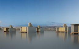 Arquitectura, diseño para catástrofes naturales. Viviendas individuales afectadas por la inundación del tsunami