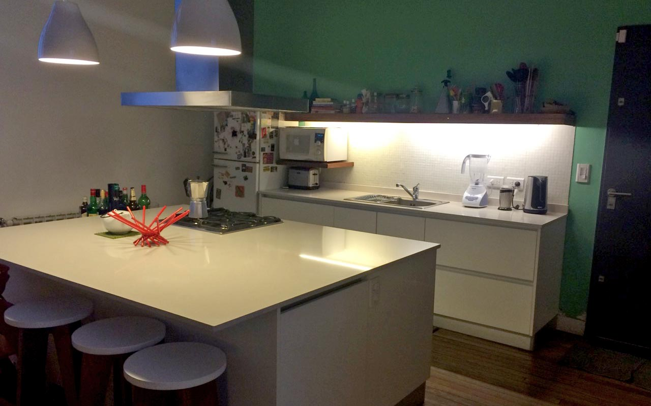 PH reform, new kitchen, island countertop in corian