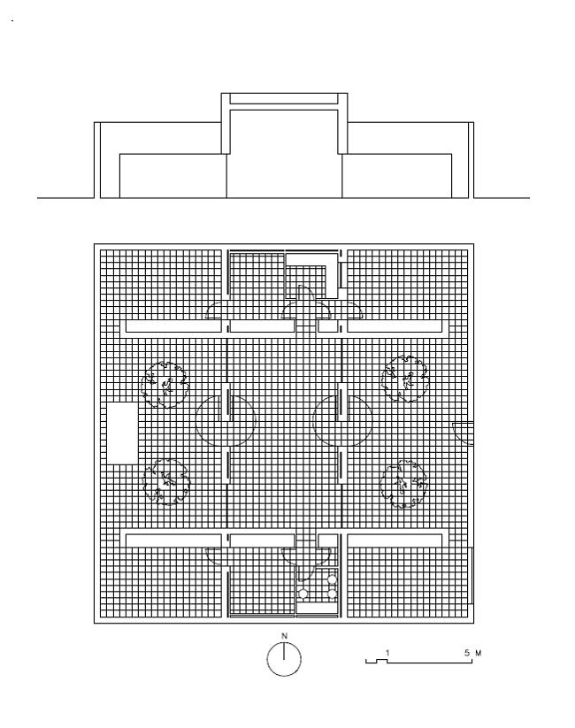 Planta y Corte de la casa Gaspar del Arquitecto Campo Baeza