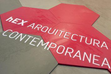 logo de la exposición hEX arquitectura contemporánea argentina