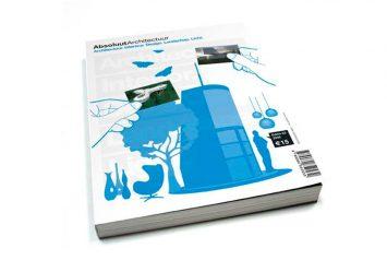 Tapa de libro de arquitectura Absoluut Architectuur en el que aparece publicado el estudio de arquitectura NOA