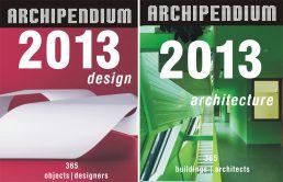 Tampas do calendário Archipendium Architecture and Design 2013
