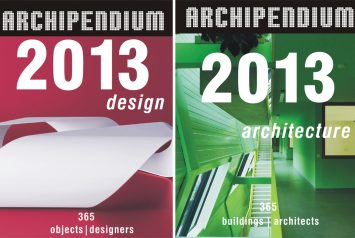 Tampas do calendário Archipendium Architecture and Design 2013