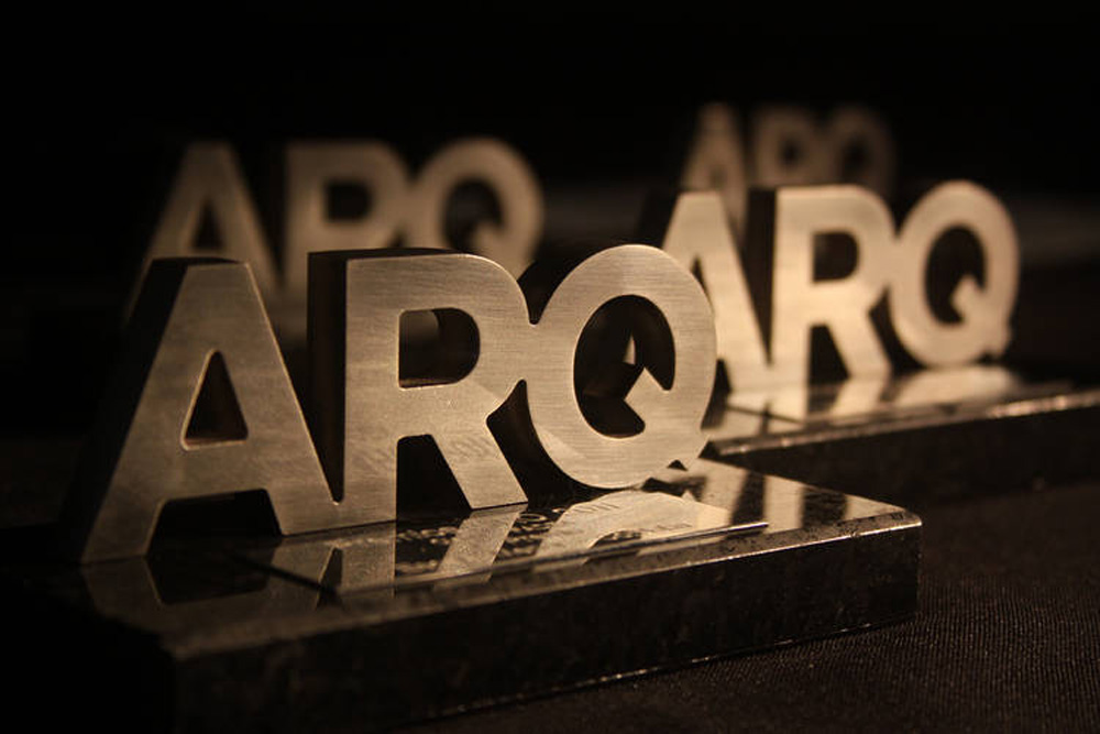 Arq Awards Trophy Statue awarded by NOA architecture studio