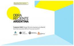 Diploma de la exposición Obra Reciente en la Fundación COAM en la que NOA como el resto de los destacados estudios argentinos de arquitectura participaron