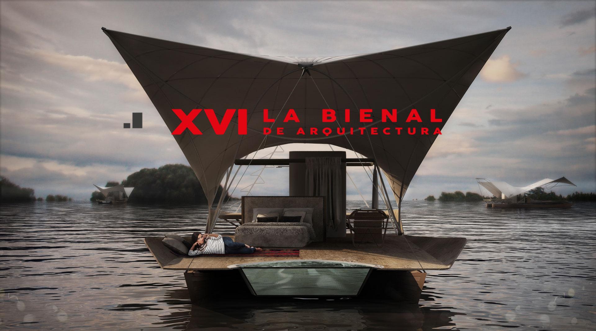 Glamping, Acqua eco lodge flotante en La Bienal Internacional de Arquitectura