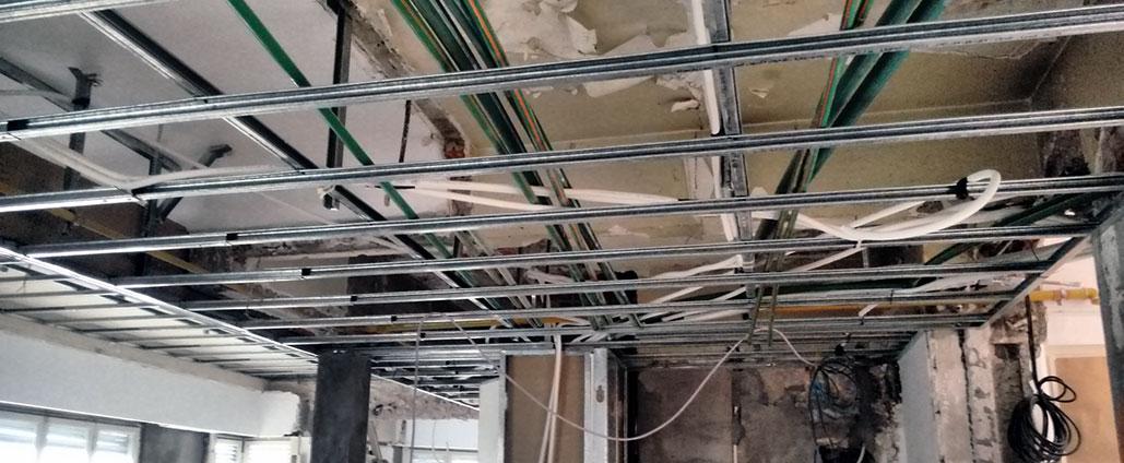 Instalaciones suspendidas para facil reparacion