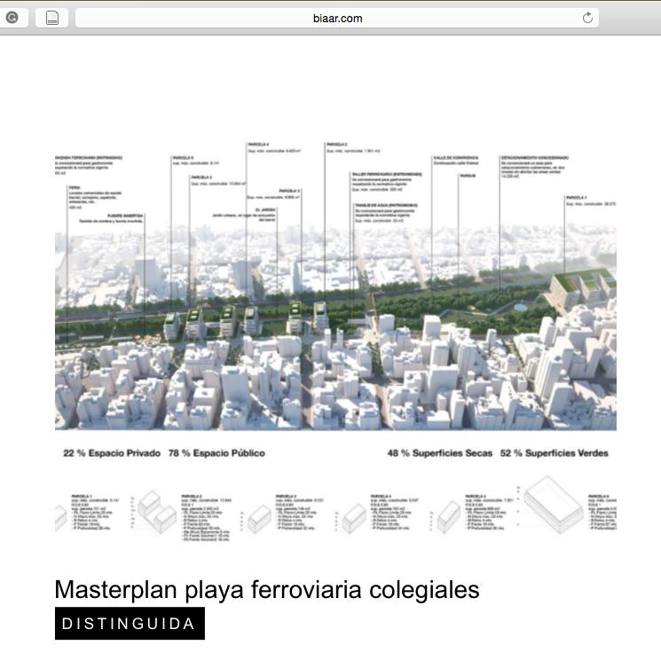 Proyecto Masterplan de Arquitectura y Paisaje Premiado en la BIA-AR, NOA uno de los mejores estudios de arquitectura de Argentina