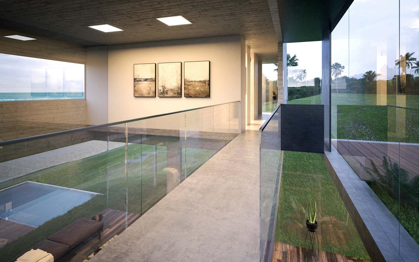 Casa grnt vivienda en hormig n visto najmias oficina de for Casa minimalista vidrio